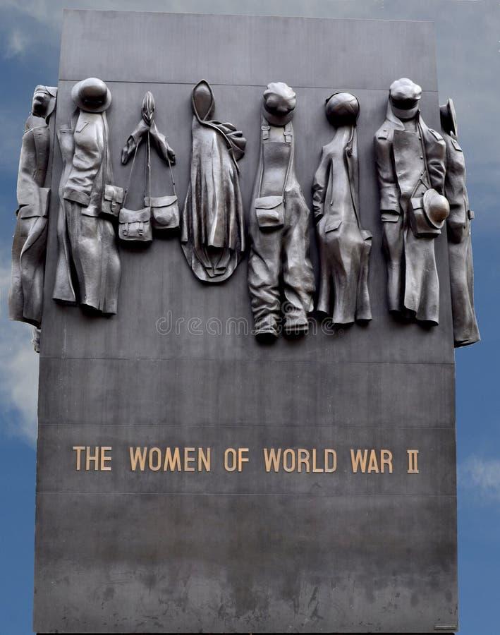 Monument aan de Vrouwen van Wereldoorlog II stock afbeeldingen