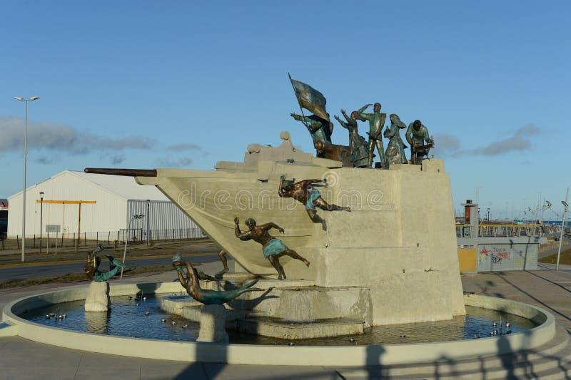 Monument aan de zeelieden in Punta Arenas royalty-vrije stock afbeelding