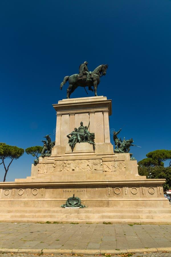 Monument aan Garibaldi, Rome stock afbeeldingen