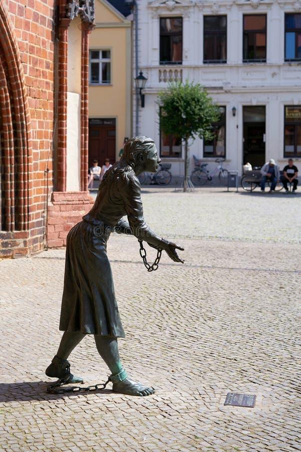Monument aan Grete Minde stock afbeelding