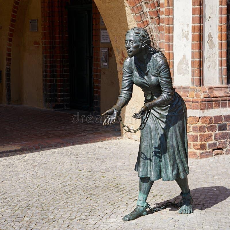 Monument aan Grete Minde royalty-vrije stock afbeelding