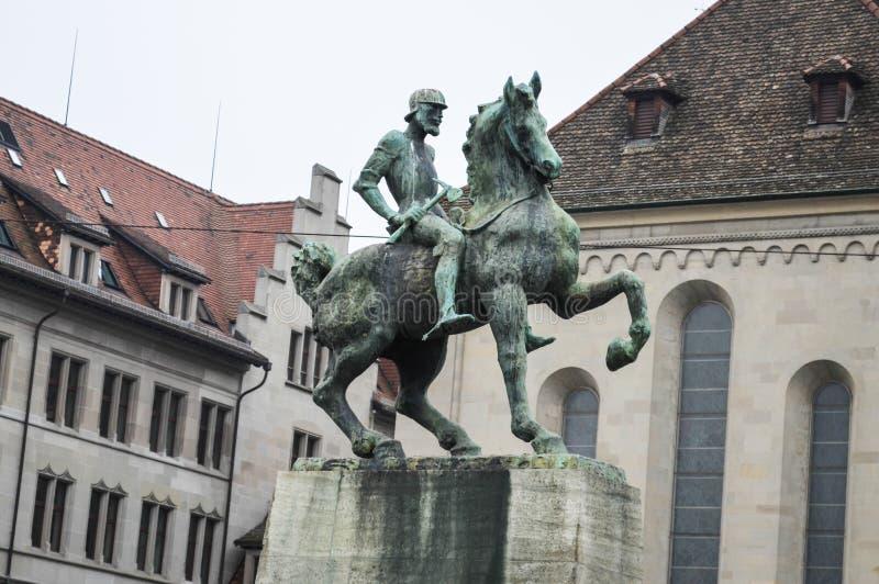 Monument aan Hans Waldmann stock afbeeldingen