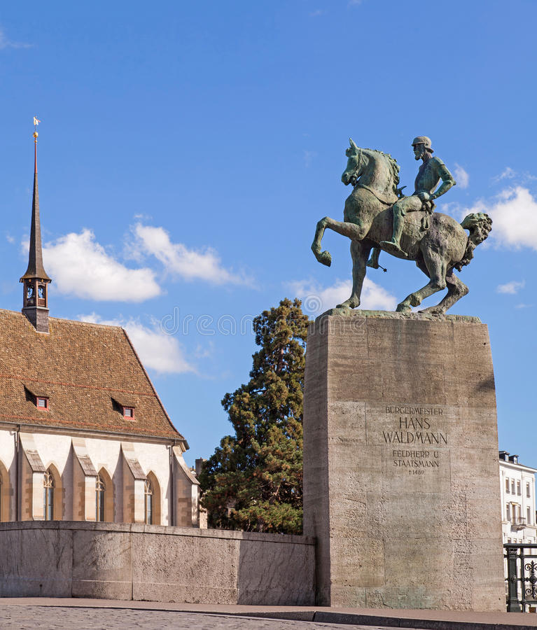 Monument aan Hans Waldmann in Zürich royalty-vrije stock foto