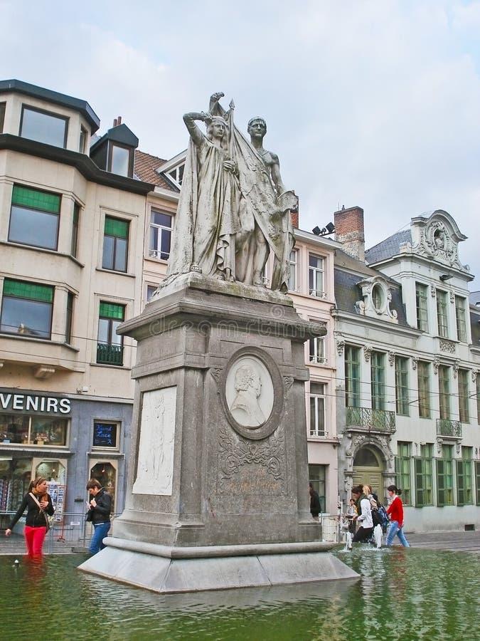 Monument aan Jan Frans Willems royalty-vrije stock fotografie