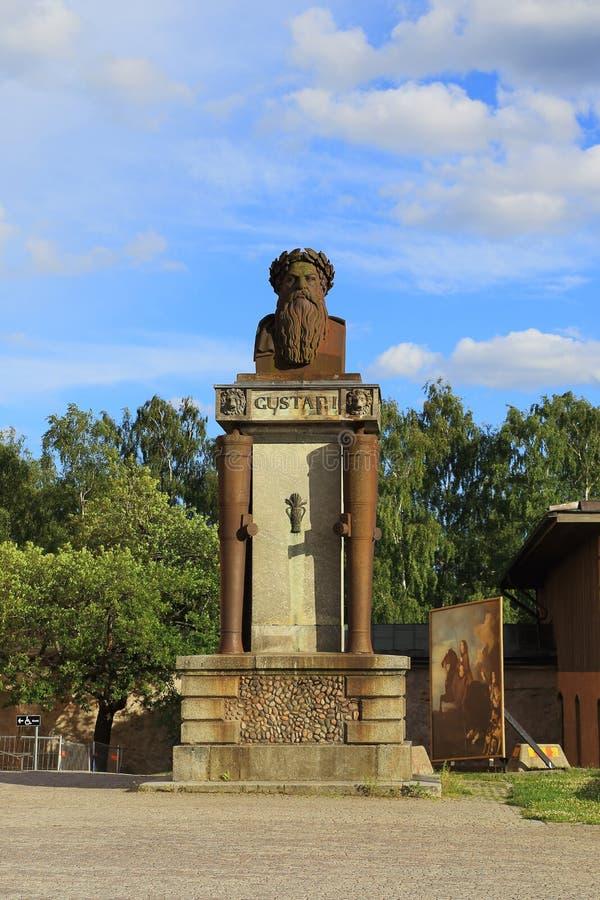 Monument aan Koning Gustaf I Vasa, Uppsala, Zweden stock foto