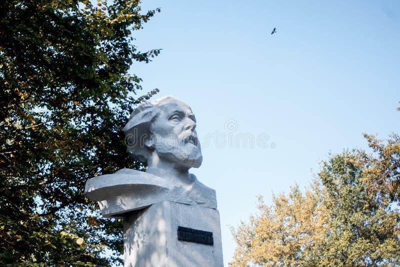 Monument aan Konstantin Tsiolkovsky, Russische wetenschapper en uitvinder royalty-vrije stock foto