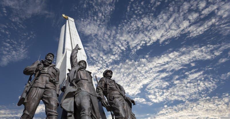 Monument aan landen van anti-Hitler coalitie, Steegaanhanger in Victory Park op Poklonnaya-heuvel, Moskou, Rusland royalty-vrije stock fotografie