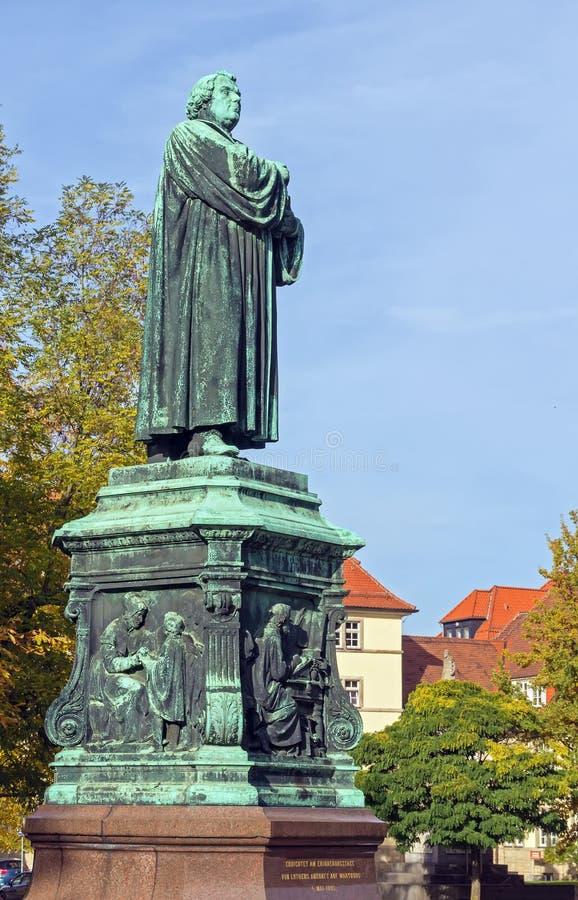 Monument aan Luther, Eisenach, Duitsland stock afbeeldingen