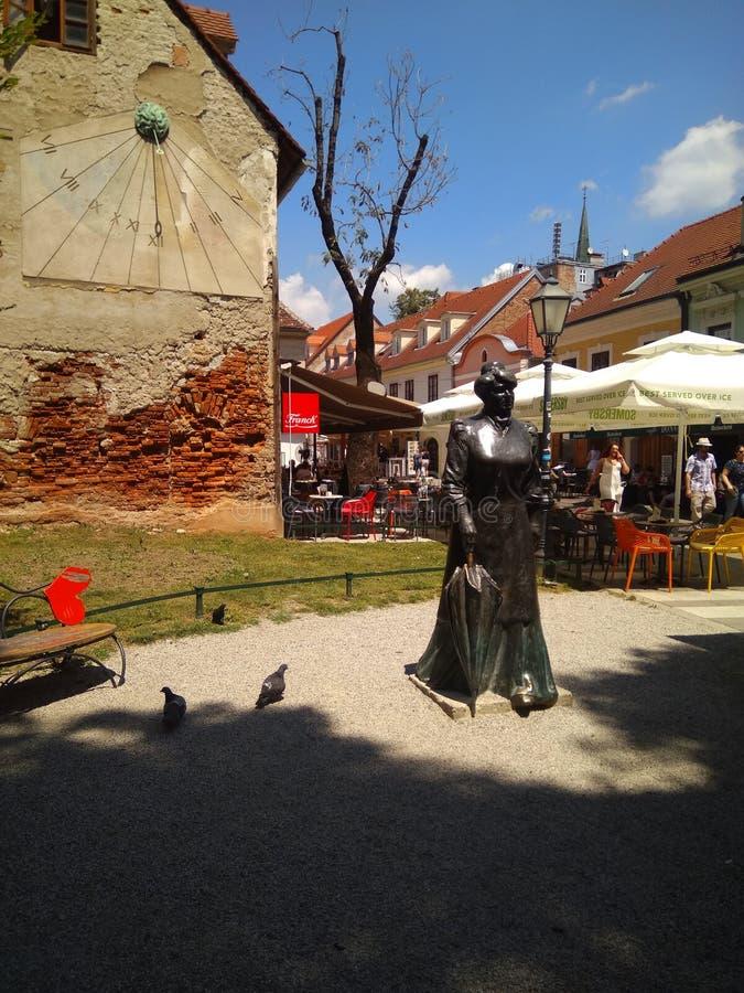 Monument aan Maria Juric Zagorka stock afbeelding