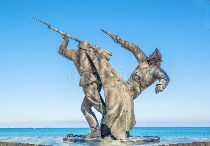 Monument aan militairen van het landen kerch-Feodosiya royalty-vrije stock foto's