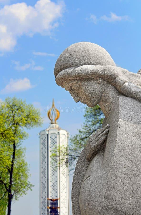 Monument aan miljoenen slachtoffers van de Grote Hongersnood stock afbeelding