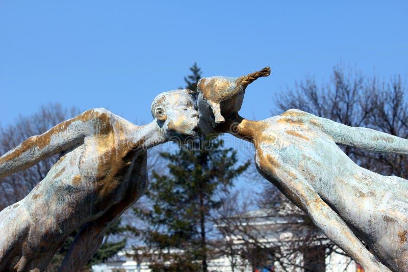 Monument aan minnaars, Kharkov, de Oekraïne stock fotografie