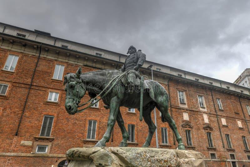 Monument aan Missori - Milaan, Italië stock afbeeldingen