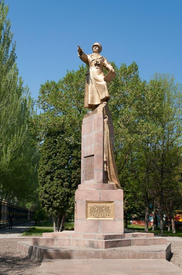 Monument aan Panfilov, algemeen in Bishkek royalty-vrije stock foto