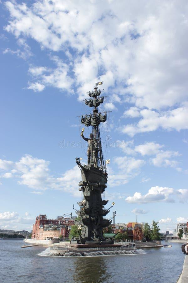 Monument aan Peter 1 De stad 2015 van Moskou royalty-vrije stock afbeeldingen