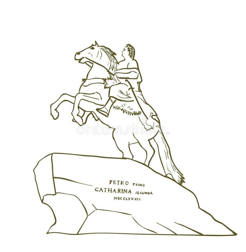 Monument aan Peter Groot vector illustratie