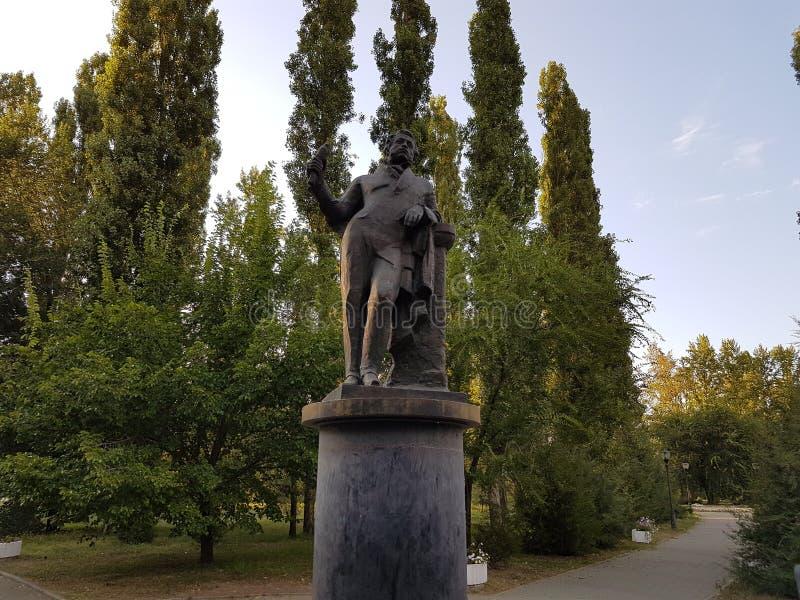 Monument aan Pushkin stock afbeelding