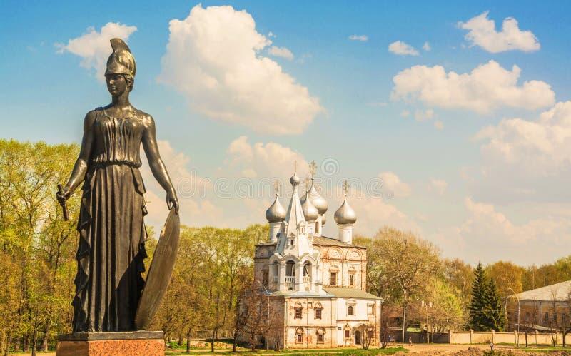 monument aan Russische dichter Konstantin Batyushkov royalty-vrije stock foto's