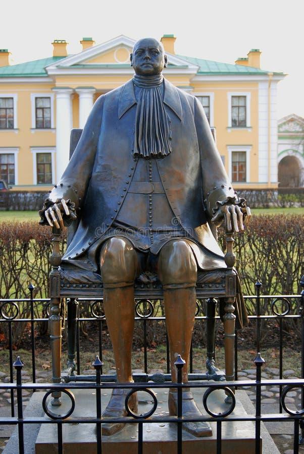 Monument aan Russische Keizer Peter First Peter Great stock afbeelding