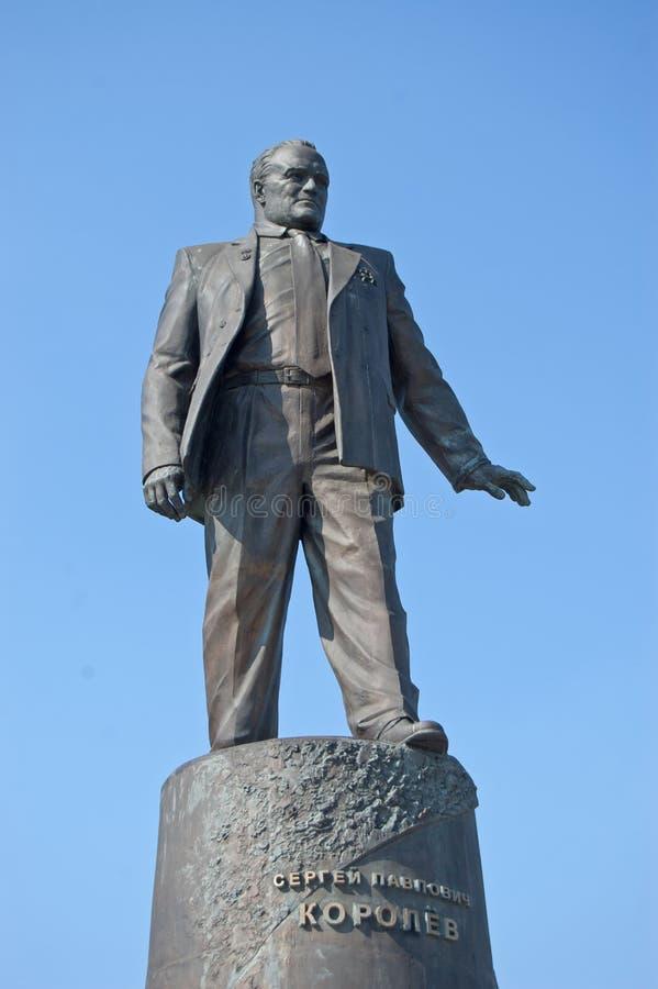 Monument aan S. Korolev royalty-vrije stock afbeeldingen