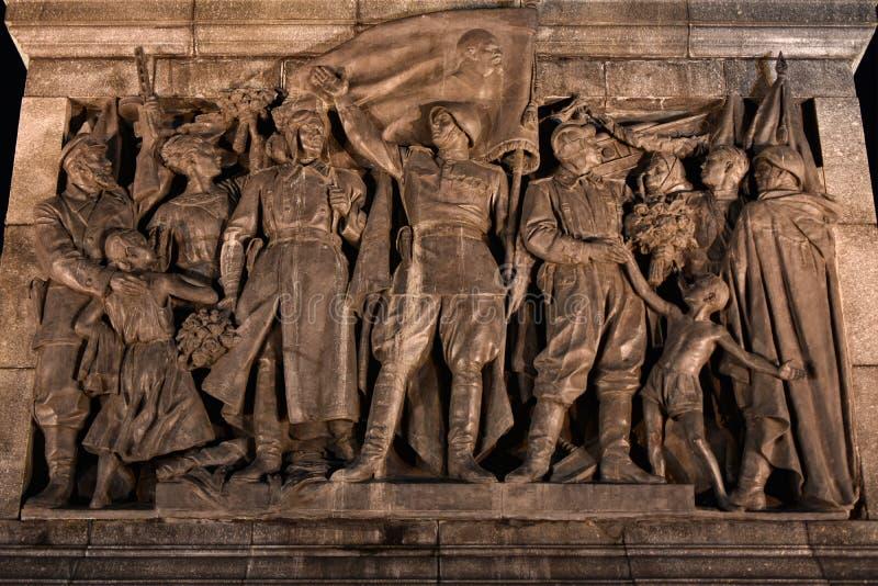 Monument aan Sovjetmilitairen voor overwinning stock afbeeldingen