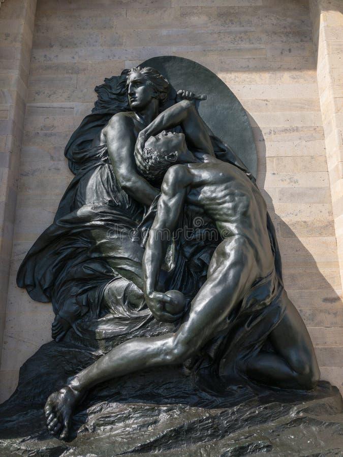 Monument aan Spoorwegarbeiders - Venetië, Italië stock afbeeldingen
