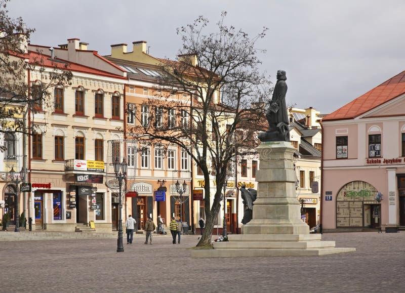 Monument aan Tadeusz Kosciuszko in Rzeszow polen stock fotografie