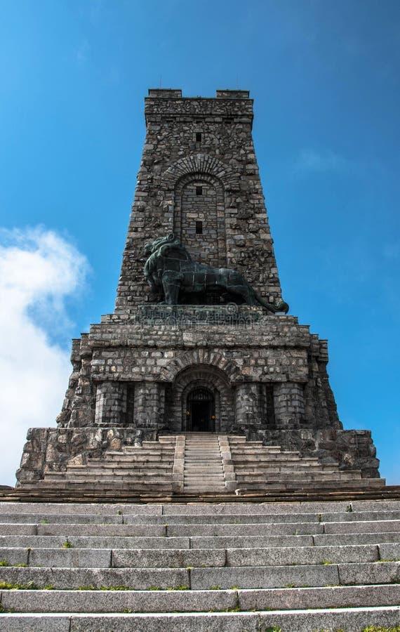 Monument aan Vrijheid Shipka, Stoletov-piek stock afbeelding