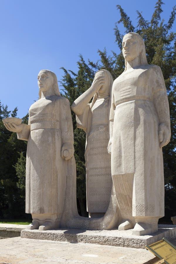 Monument aan vrouwen in Turkije bij het mausoleum van Ataturk ankara Turkije stock fotografie