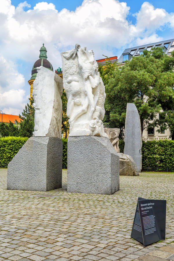 Monument Against War and Fascism, Vienna, Austria. VIENNA, AUSTRIA - JUNE 24, 2016: Monument Against War and Fascism, which commemorates the dark years when royalty free stock images