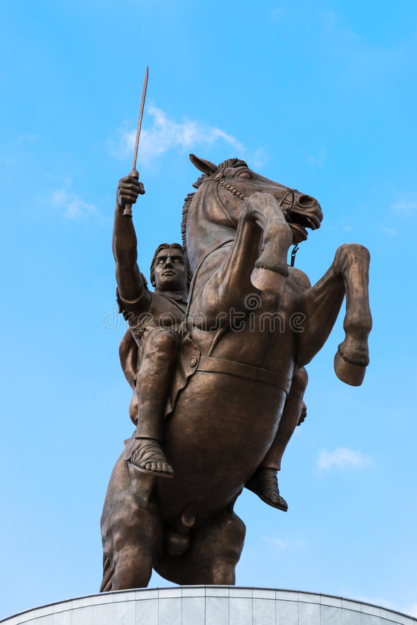 Monument of Alexander The Great - Skopje, Macedonia. Monument of Alexander The Great stock photo