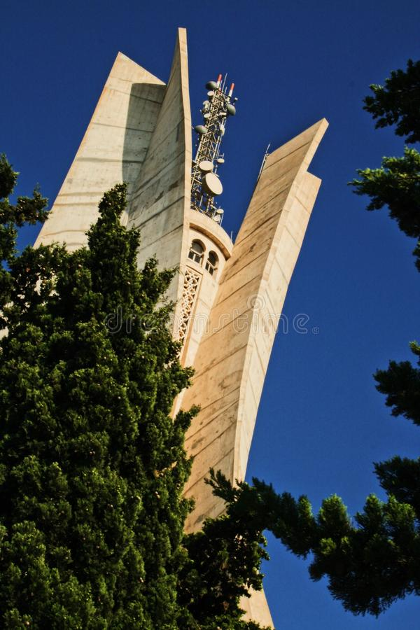 The monument of algiers, maqam el chahid royalty free stock photo