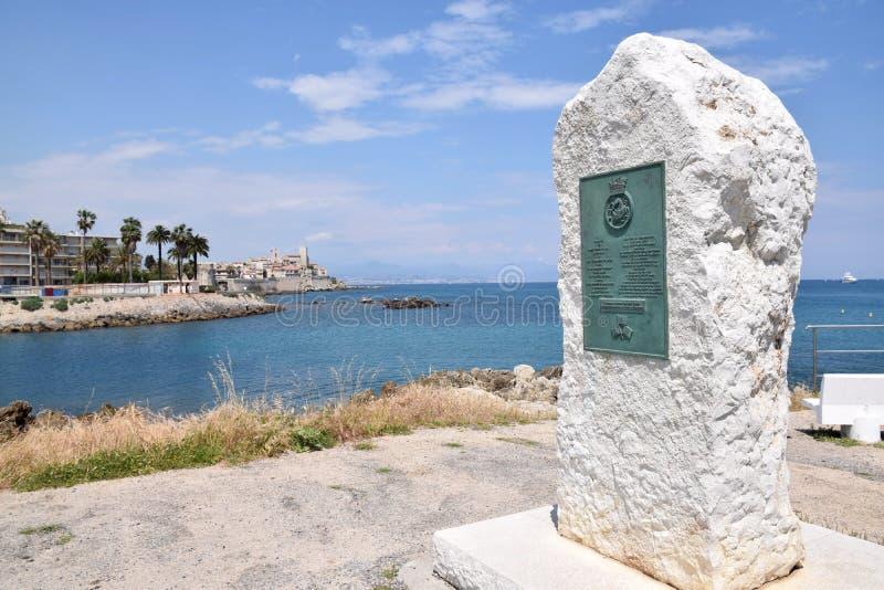 Monument in Antibes royalty-vrije stock afbeelding
