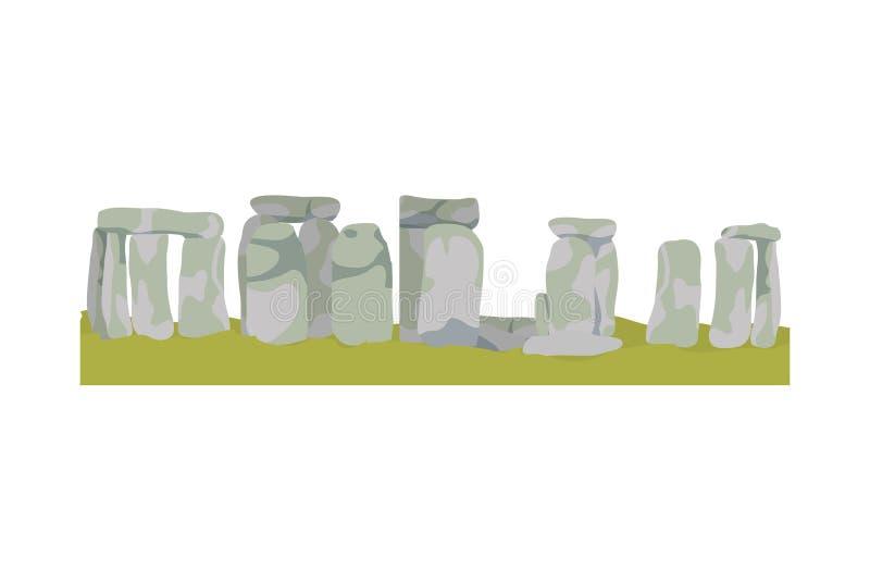 Monument antique de scultupture de stonehenge classique illustration libre de droits
