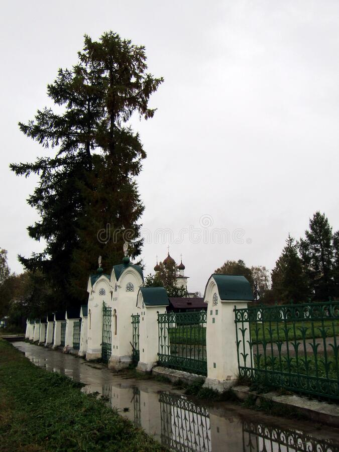 Monument of architecture `Pit of Mikhail Romanov`.  royalty free stock photos