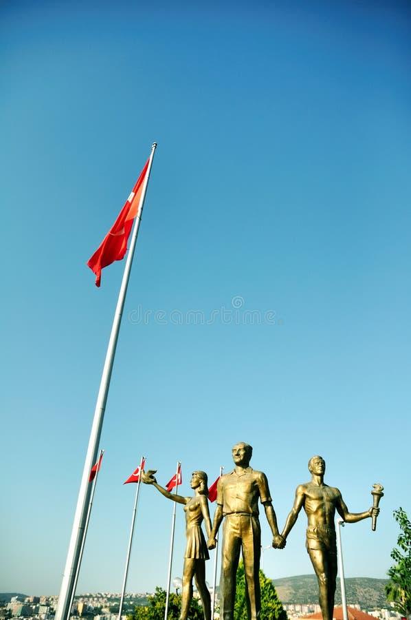Download Monument Of Ataturk And Youth, Kusadasi, Turkey Stock Image - Image: 10563545