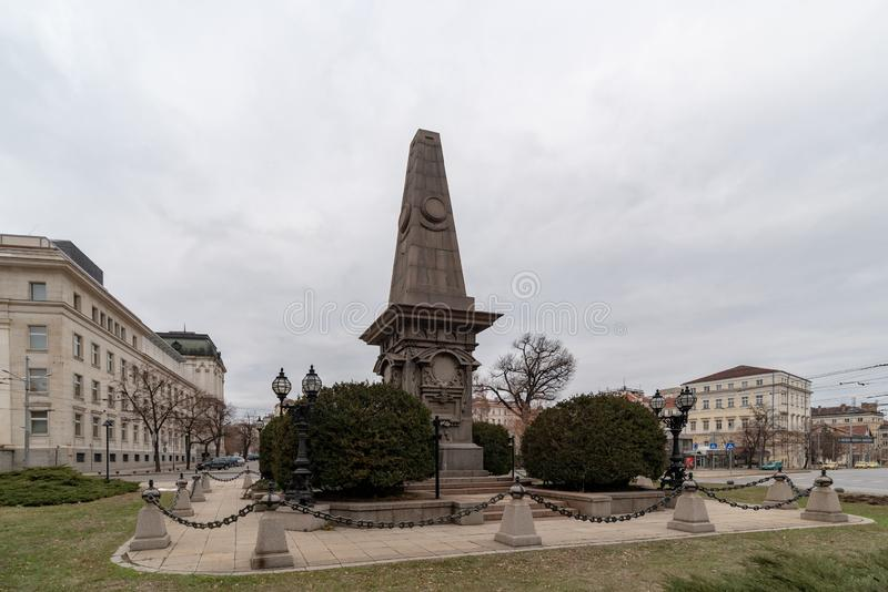 Monument au héro national bulgare Vasil Levski en Sofia Bulgaria photographie stock