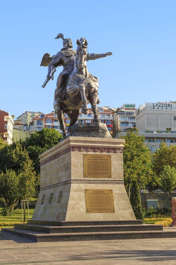 Monument au héros Manas, Istanbul photographie stock