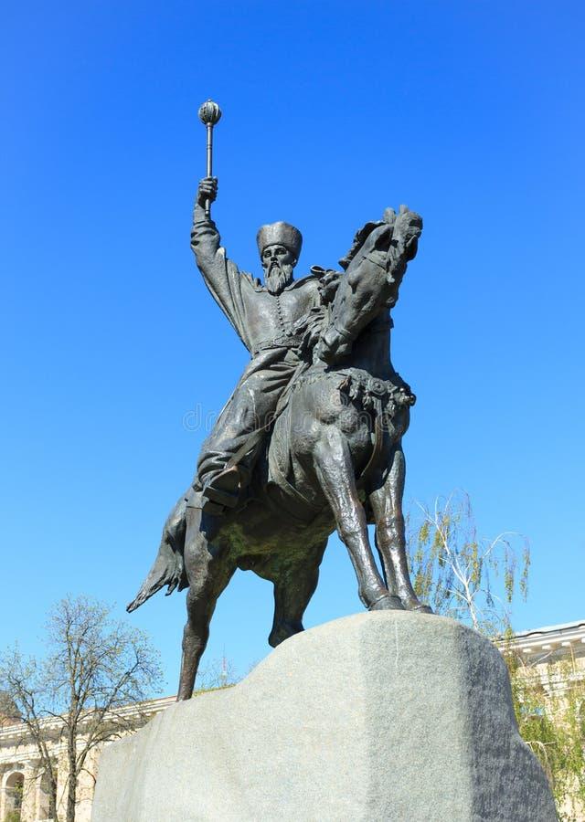 Monument au Hetman à Kiev, Ukraine, image stock
