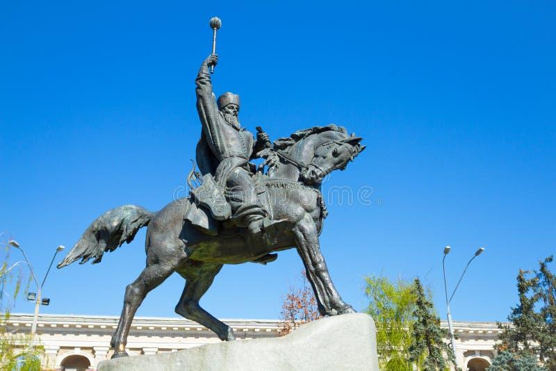 Monument au Hetman Sagaidachnyi images libres de droits