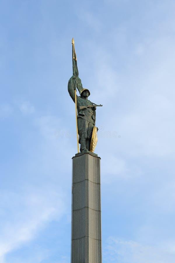 Monument au libérateur de guerrier d'armée rouge, Vienne, Autriche image stock