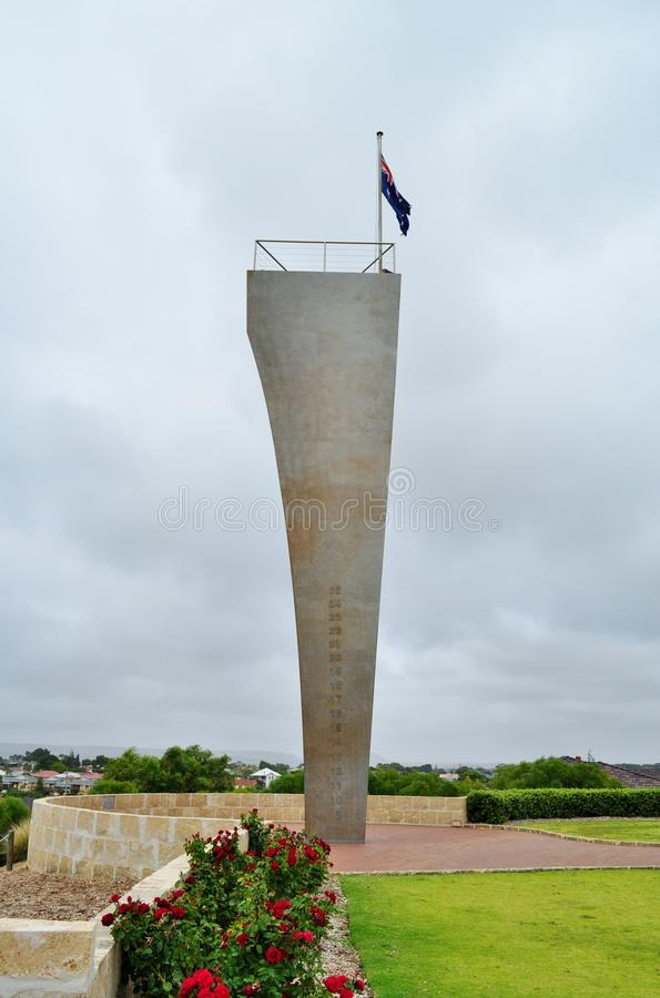 Monument au mémorial de guerre de Sydney HMAS II photos libres de droits
