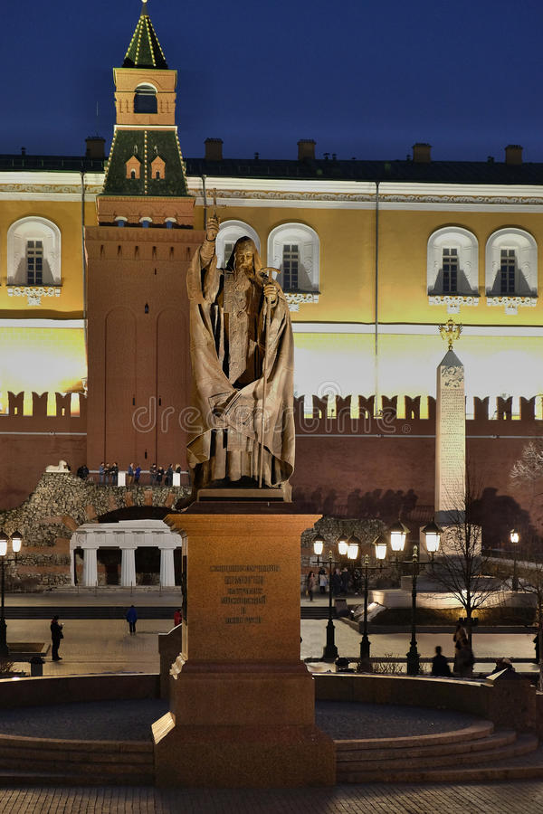 Monument au patriarche Hermogenes en jardin d'Alexandre images stock