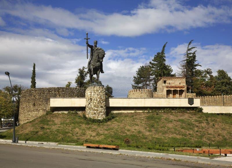 Monument au Roi Erekle II (Irakli II) dans Telavi georgia image stock