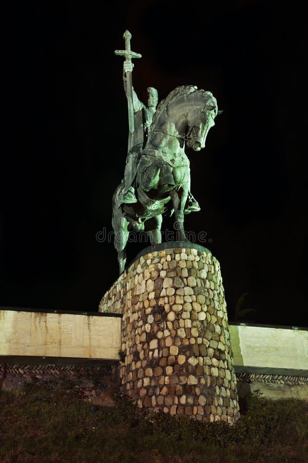 Monument au Roi Erekle II (Irakli II) dans Telavi georgia photo stock