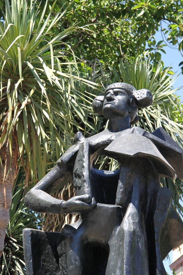 Monument au toréador Juan Belmonte en Séville images stock