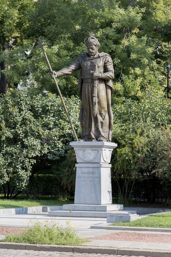 Monument au tsar bulgare Samuel à Sofia, Bulgarie photo libre de droits