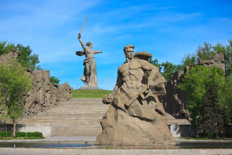 Monument-Aufenthalt zum Tod in Mamaev Kurgan, Wolgograd lizenzfreies stockbild