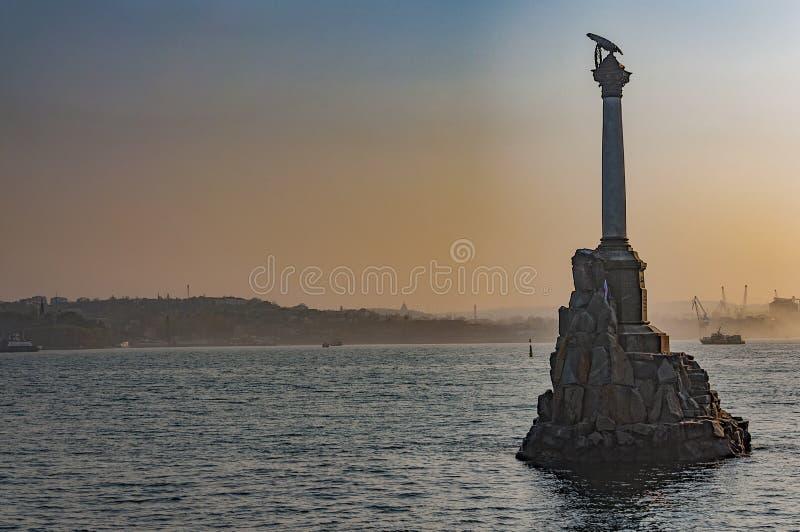 Monument aux bateaux perdus à l'aube photographie stock
