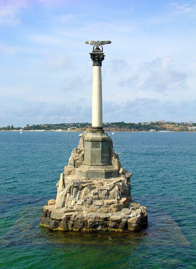 Monument aux bateaux submergés, Sébastopol, Ukraine photographie stock libre de droits